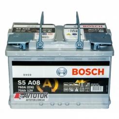 Bosch 6СТ-70 AGM Евро (S5A08) - фото 1