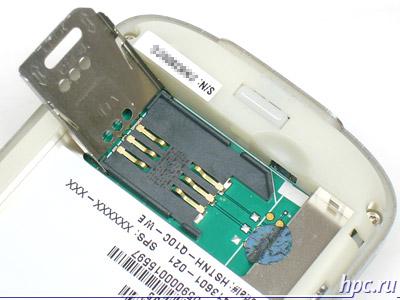 HP iPAQ rw6815: разъем для sim-карты