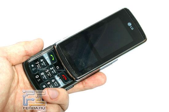 LG KF600: в руке