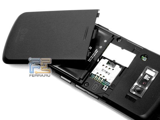 LG KF600: аккумулятор