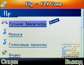 Встроенный браузер Fly Q110 TV