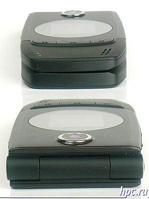 Qtek 8500: верхний и нижний торцы, в закрытом состоянии