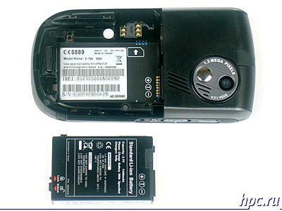 E-Ten G500: аккумуляторный отсек