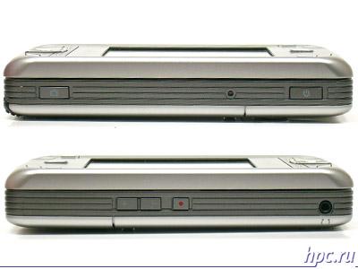 Glofiish M700: правый и левый торцы