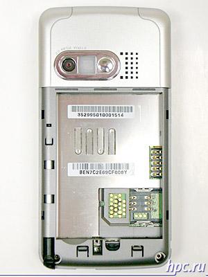 Glofiish M700: задняя часть со снятой крышкой