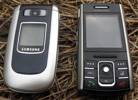 Samsung D720 (справа) и Samsung D730 (слева) в закрытом состоянии