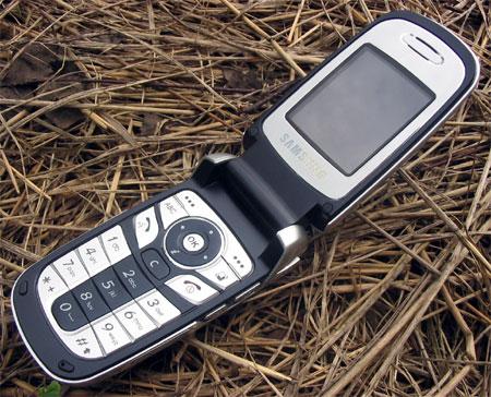Samsung D730 в открытом состоянии