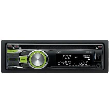 Автомобильная магнитола JVC KD-R422EY Тип дисплея LCD; Подсветка кнопок зеленая; Защита от кражи съемная передняя...