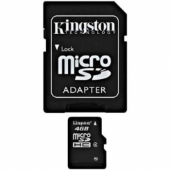 Kingston microSDHC Class 4 4Gb - фото 3