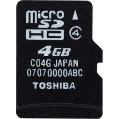 Toshiba microSDHC Class 4 4Gb - фото 2