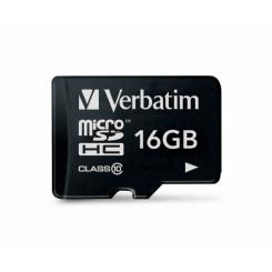 Verbatim MicroSDHC Class 10 16GB - фото 2