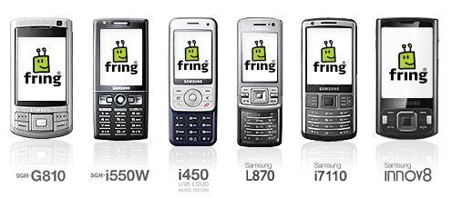 Приложение Fring 3 40 доступно для Symbian-смартфонов Samsung