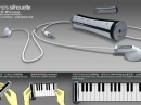 Большой плеер и маленький синтезатор Piano`s Silhouette