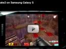 Дуэль Samsung Galaxy S и Google Nexus One, оружие - игра Quake 3