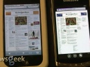 Битва браузеров - iPhone 3GS против Samsung Taylor с Windows Phone 7