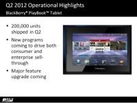 BlackBerry Tablet OS 2 появится уже в октябре