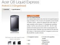 Европейский оператор подтвердил Acer C6 Liquid Express