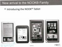 Утекшие слайды рассекретили планшет Barnes & Noble Nook Tablet и не только