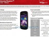 Verizon детализирует информацию о таинственном смартфоне Samsung Illusion