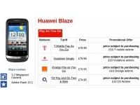 Недорогой Android смартфон Huawei Blaze вышел в продажу