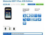 Motorola Defy+ JCB Edition стал еще более защищенным
