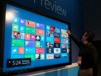 MWC 2012: Microsoft демонстрирует Windows 8 на 82-дюймовом сенсорном дисплее