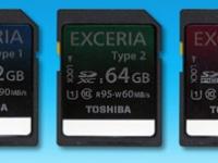 Карты памяти SDXC и SDHC серии Toshiba EXCERIA названы самыми быстрыми в мире