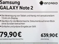 Объявлена цена Samsung Galaxy Note II для Европы