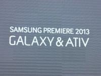 SAMSUNG PREMIERE 2013: «горячие новинки GALAXY и ATIV 2013» - репортаж с презентации