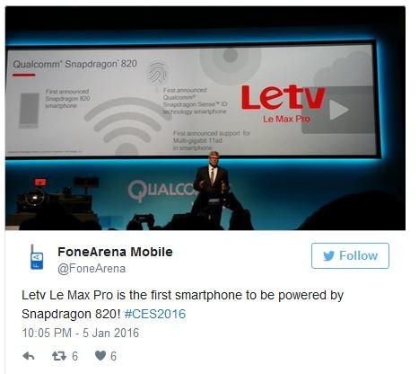 Новости о смартфонах: CES 2016: LeTV Le Max Pro — первый ...