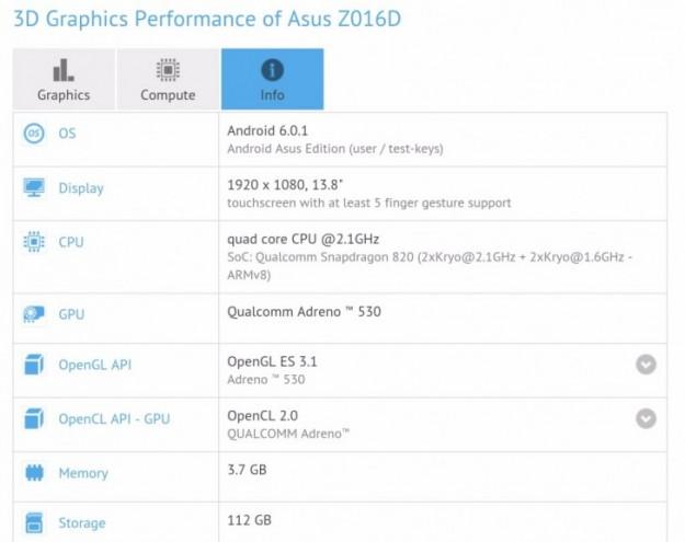 Еще одна версия ASUS Zenfone 3 найдена вбенчмарке