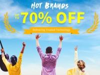 HOT BRANDS SALE до 70% на Xiaomi, Teclast, SJCAM, Elephone и другие бренды