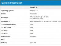 8-ядерный смартфон Nokia D1C с Android 7.0 засветился в Geekbench