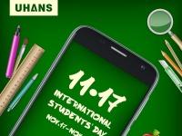 UHANS дарит смартфоны к Международному дню студентов