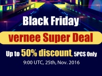 Скидка до 50%, Супер-распродажа Vernee на Черной пятнице с Европейского склада