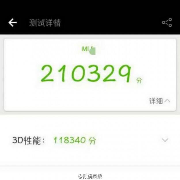 Xiaomi Mi6 «навёл шороху» вбенчмарке