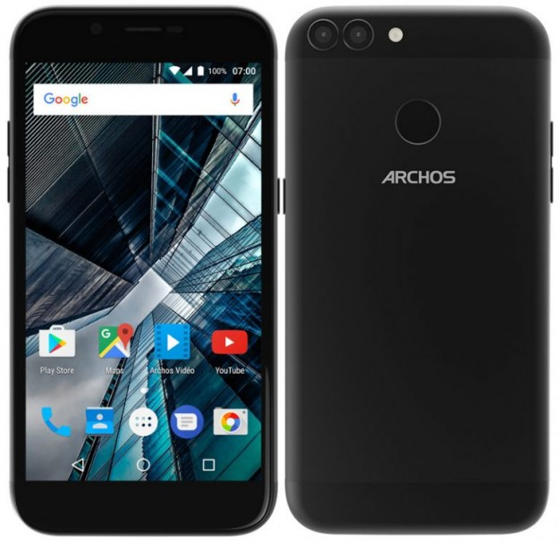 ARCHOS анонсировала мобильные телефоны 55 Graphite и50 Graphite сдвойными камерами
