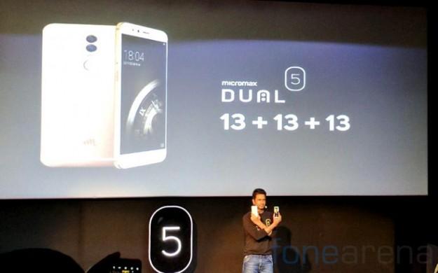 Micromax анонсировала среднебюджетный смартфон Dual 5