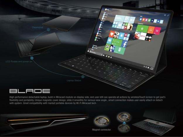 Blade концептуальный планшет-трансформер отLenovo