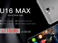 Открыт международный предзаказ на 6-дюймовый OUKITEL U16 Max за $119.99