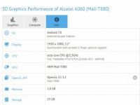 ALCATEL Idol 5 c MediaTek Helio P20 SoC засветился в GFXBench