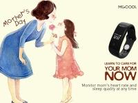 Скидка 30% на фитнес-трекер MGCOOL Band 2 ко Дню матери