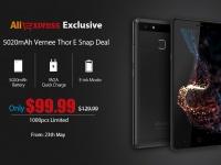 Распродажа смартфонов Vernee на AliExpress: 1000 единиц Vernee Thor E всего за $99.99!