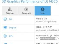 8-ядерный LG M320 с ОС Android 7.0 засветился в GFXBench