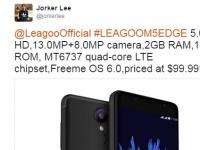 Анонсирован металлический LEAGOO M5 Edge с 2.5D-экраном и 13Мп камерой за $99.99