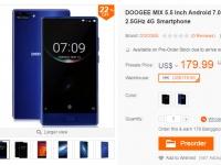DOOGEE MIX доступен к заказу в магазине Banggood за $169.99