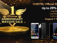 OUKITEL начинает юбилейную распродажу в честь годовщины создания магазина на Aliexpress