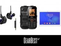 Акции от GearBest.com: Наушники KZ-ES3 - $5.99,   телефон EL K6900 - $19.99, планшет