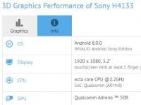 Sony Xperia XA2 показал характеристики в GFXBench
