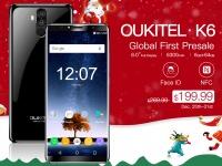 OUKITEL K6 с 6 ГБ ОЗУ и батареей на 6300 мАч запустили в продажу на Banggood